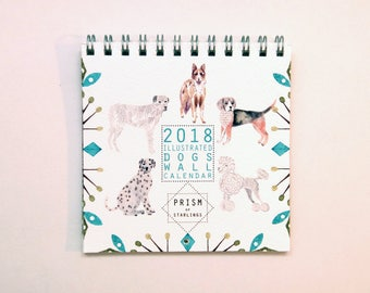 Mini 2018 Dogs Wall Calendar