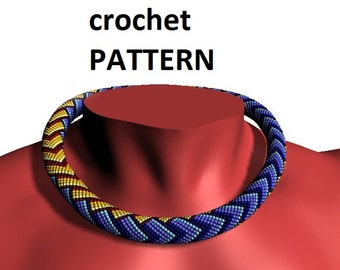 Bead crochet pattern etsy bead crochet pattern beading necklace geometric pattern for necklace patterns master class jewelry tutorial pdf crochet dt1010fo