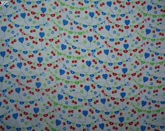 Fabric C195 cherries and balloons coupon 35x50cm