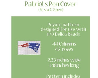 Patriots Pen Cover Peyote Pattern