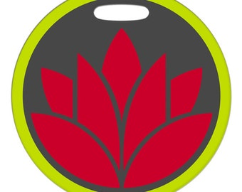 Luggage Tag - Lotus - Round Plastic Luggage Bag Tag