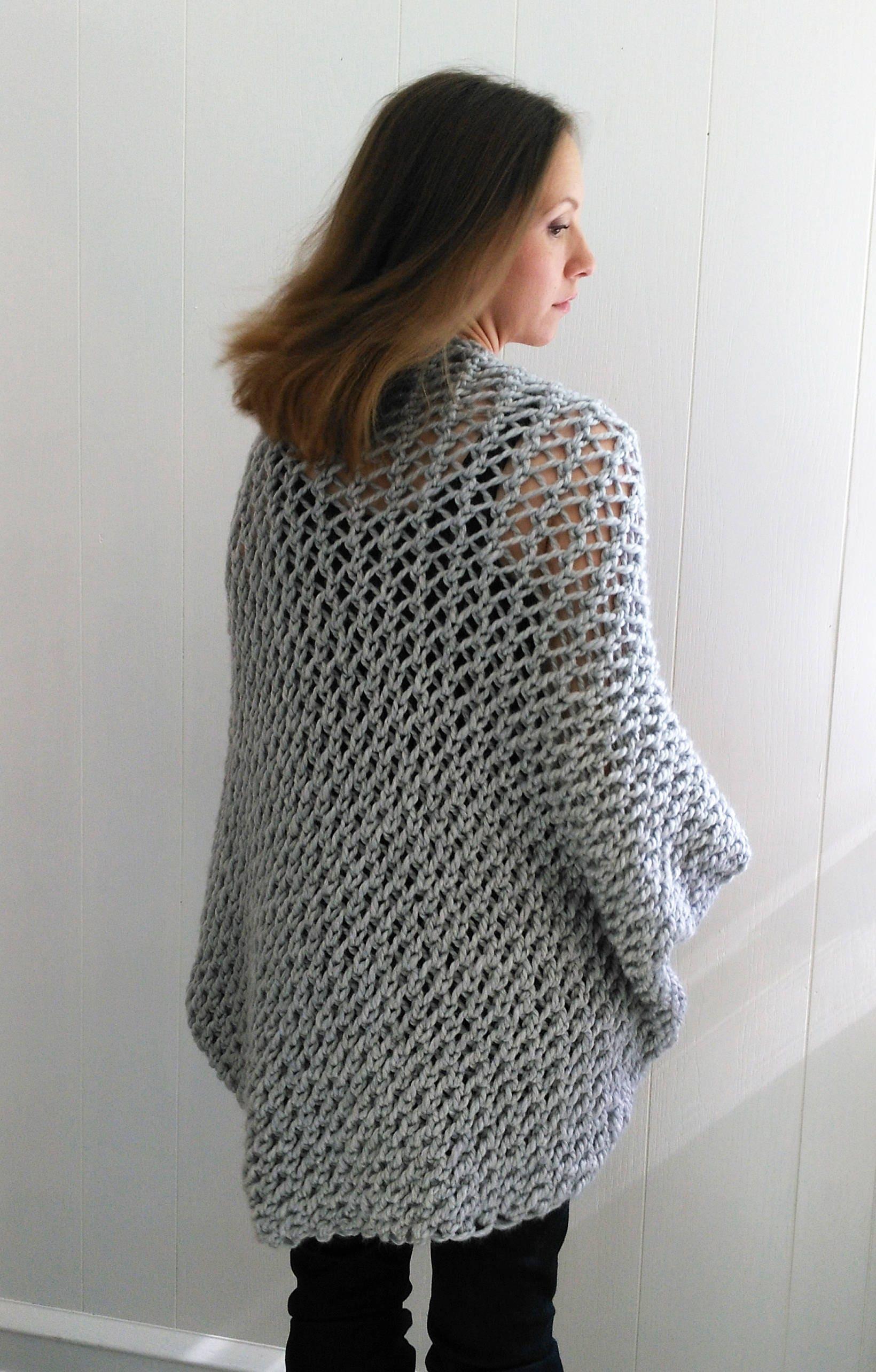 Easy Sweater PATTERN, Shrug Pattern, Beginner Sweater Knit Pattern ...
