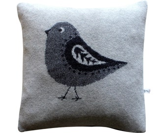 40cm Lambswool Bird cushion