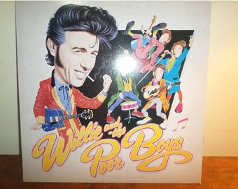 Vintage 1985 Vinyl LP Blue Rock Record Wille and the Poor Boys Excellent Condition 12556