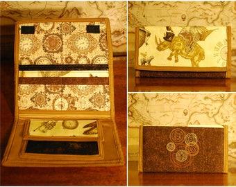 Steampunk Clutch Wallet