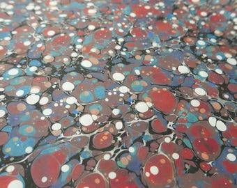 Paper marbling 48 x 68 cm inkjet shore tradition 120 grams - 6