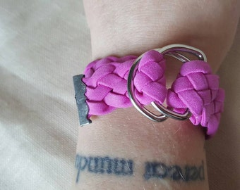 Pink braid wrap bracelet - purple braid wrap bracelet - pink braided bracelet - purple braided bracelet - braided wrap bracelet