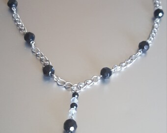 Black and Silver Swing Necklace