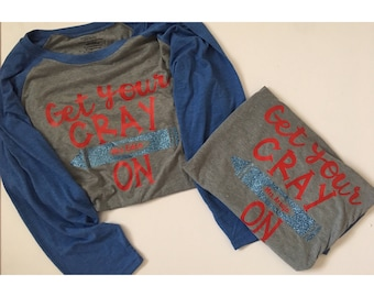 Get your Cray On Baseball Tees!