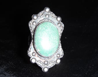 Sterling Silver Southwest Style Amazonite  Ring