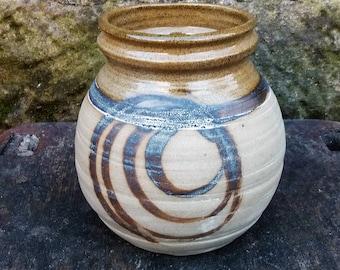 Vintage rustic stoneware vase