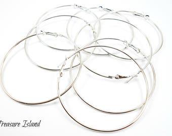 10 hoop earrings silver, hoops silver