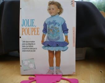 2 sewing patterns: 1 girl dress: 12/18/2 years. 1 waterproof: T 38 to 44.