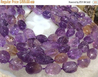 50% Mega Sale Ametrine Faceted Nugget Gemstone Beads - Large
