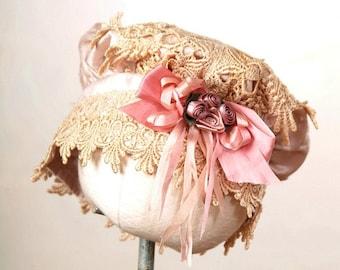 Victorian Black Velvet Lace Trimmed Romper