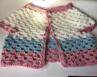 Two lovely crochet baby cardigans