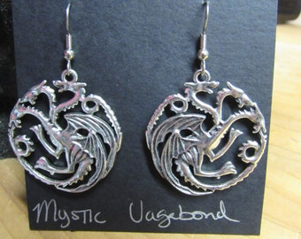 Dragon Earrings, Dragon jewelry, Dragons, Dragon, Fantasy earrings, Fantasy jewelry, Game of Thrones Dragons, Game of thrones jewelry