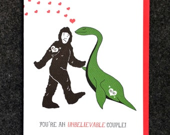 You're an Unbelievable couple - Bigfoot and Nessie