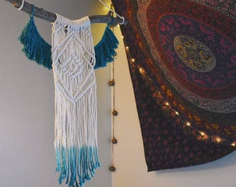 Bohemian Macrame Wall Hanging // Dip-Dyed Wall Decor
