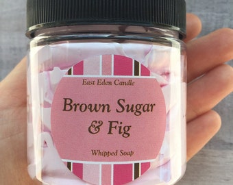 Fig whipped soap, whipped soap, brown sugar soap