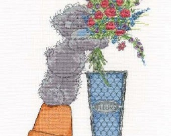 Tatty Teddy (Me To You Bear) Fresh Bouquet (Flowers) Cross Stitch Kit (DMC)