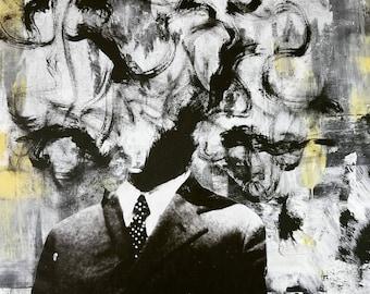 Mess-head no. 012 - mixed media - Original Artwork