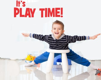 It's Play Time wall decal