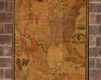 Vintage Washington Photo, Washington Map, Aerial Washington Photo, Old Washington Map, Washington Art Rend, Washington Poster, WA Art
