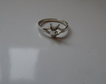vintage design playboy ladies ring silver 925  Great Gift Birthday Gift for her Gift For girlfriend