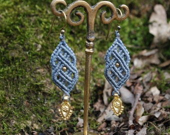 Macrame Celtic Earrings