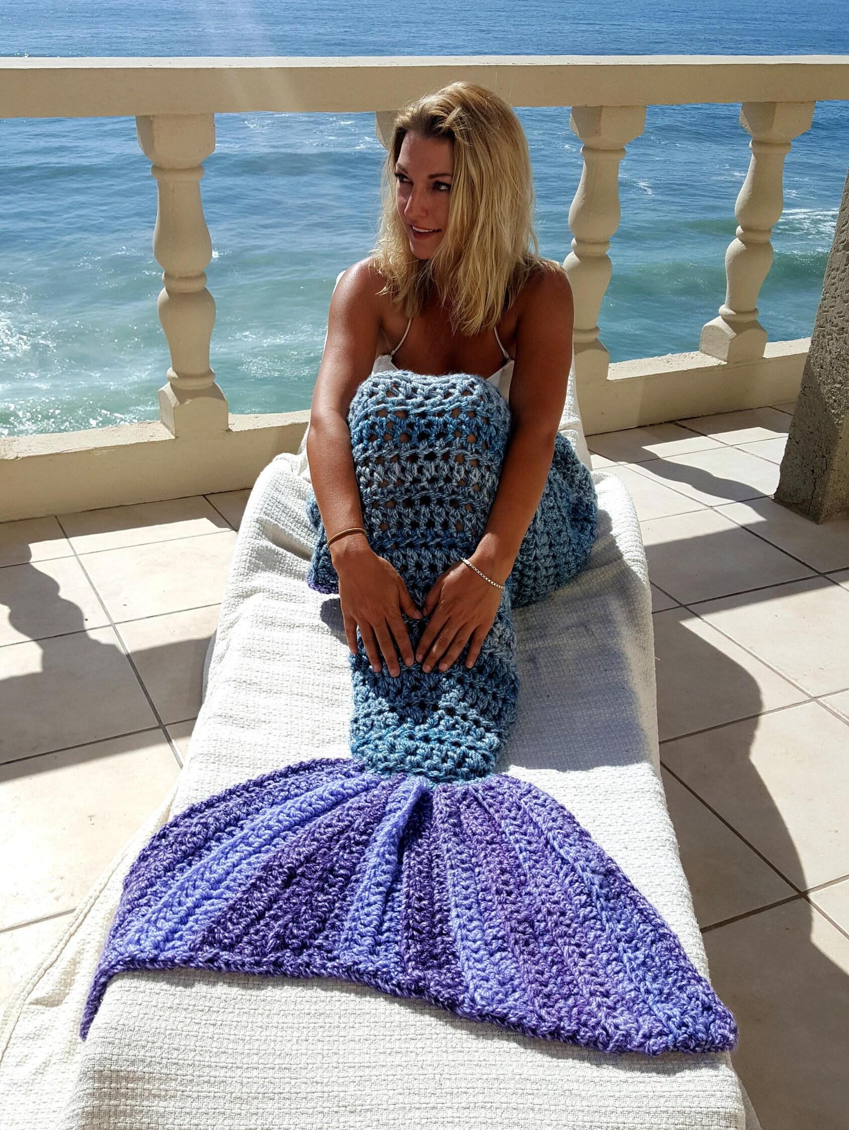 SOFORT lieferbar Kinder Decke lila Meerjungfrau Flosse