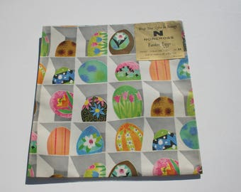 Vintage Mod Easter Egg Gift Wrapping Paper, Retro Wrap, 1 sheet