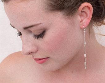 Moonstone And Chain Earrings