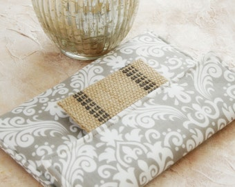 Kindle Case, Kindle Sleeve, Kindle Paperwhite Sleeve, Nook Cover, Kindle Voyage Sleeve, Ereader Case Nook Glowlight case in Grey Damask