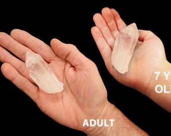 """Quartz Crystal 2 1/2"""" Point Raw Rocks Minerals All Chakra Healing Crystal Stones Raw Natural Specimen Reiki #5"""