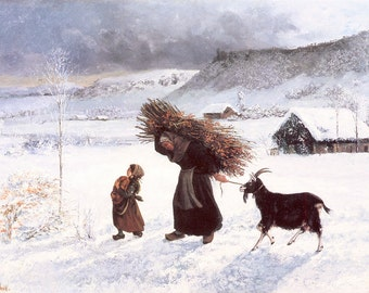 Gustave Courbet: The Poor Woman of the Village. Fine Art Print/Poster (001047)