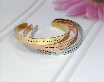 Morse Code Bracelet. Morse Code Jewelry. Friendship Bracelet. Sisters Bracelet. I Love You Gift. Gift For Her. Morse Code Message Bracelet.