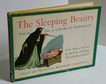 "Vintage Children Book ""The Sleeping Beauty"", Adapted and Illustrated by Warren Chappell"