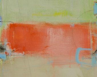 Abstract Landscape Painting, Modern Contemporary, Original 16x20 Abstract Painting - West Elm artist, Coastal Decor, Wall Decor, Beach Decor