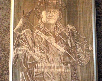 3d Laser Engraved Photo Plaque (Hero Plaque)