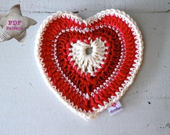 Haakpatroon Valentijnshart haken