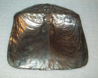 James W Tufts Silver Plated Card Tray or Ashtray