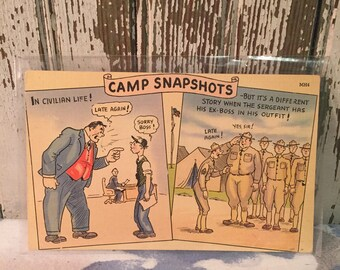 Camp Snapshots Vintage post card