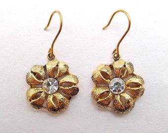 Margherita - Italian Vintage Jewelry, Swarovski Crystal, Flower