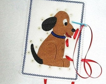 PUPPY SEWING CARD #3813