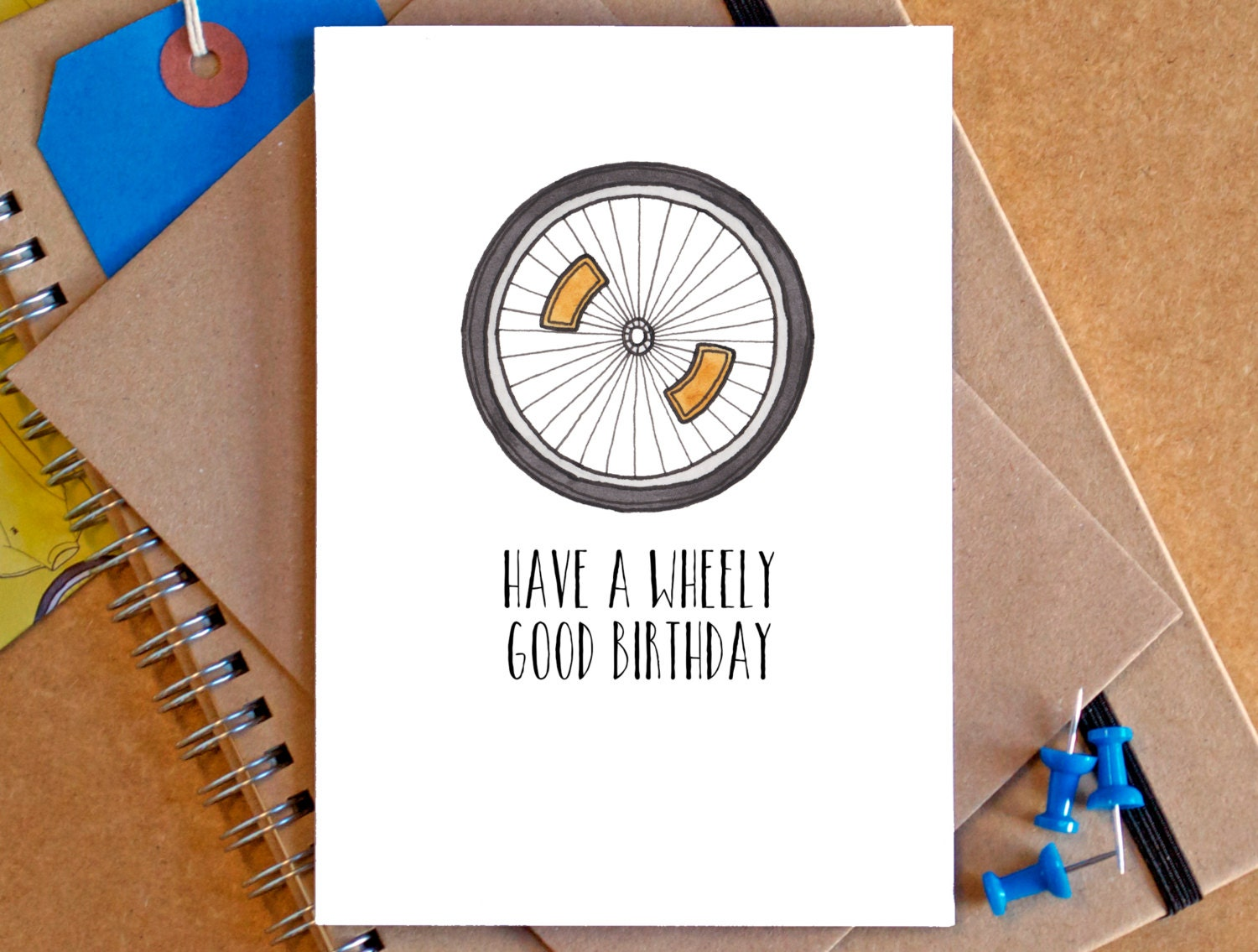 Bicycle Birthday Card Funny Bicycle Card Funny Bike Card