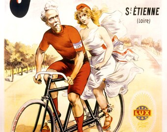 Cycles Just Tandem Bicycle Poster (#1386) 6 sizes