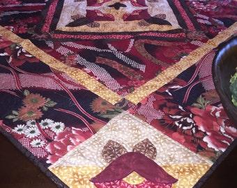 Oriental Flowers Table Topper