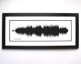 The Long Road :  Rock Song Wall Art Print, Sound Waveform Picture