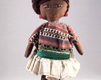 Cute Mexican Handmade rag doll
